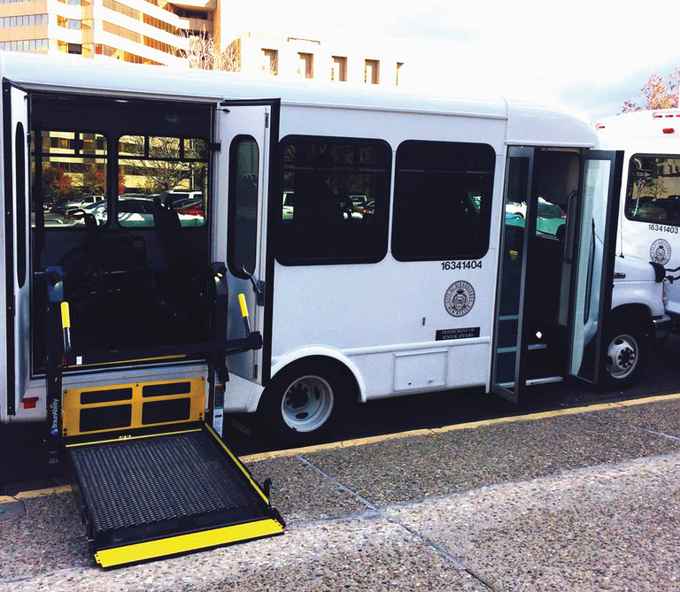 Shuttle Van with Wheelchair Lift