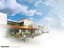 North Domingo Baca Multigenerational Center Rendering