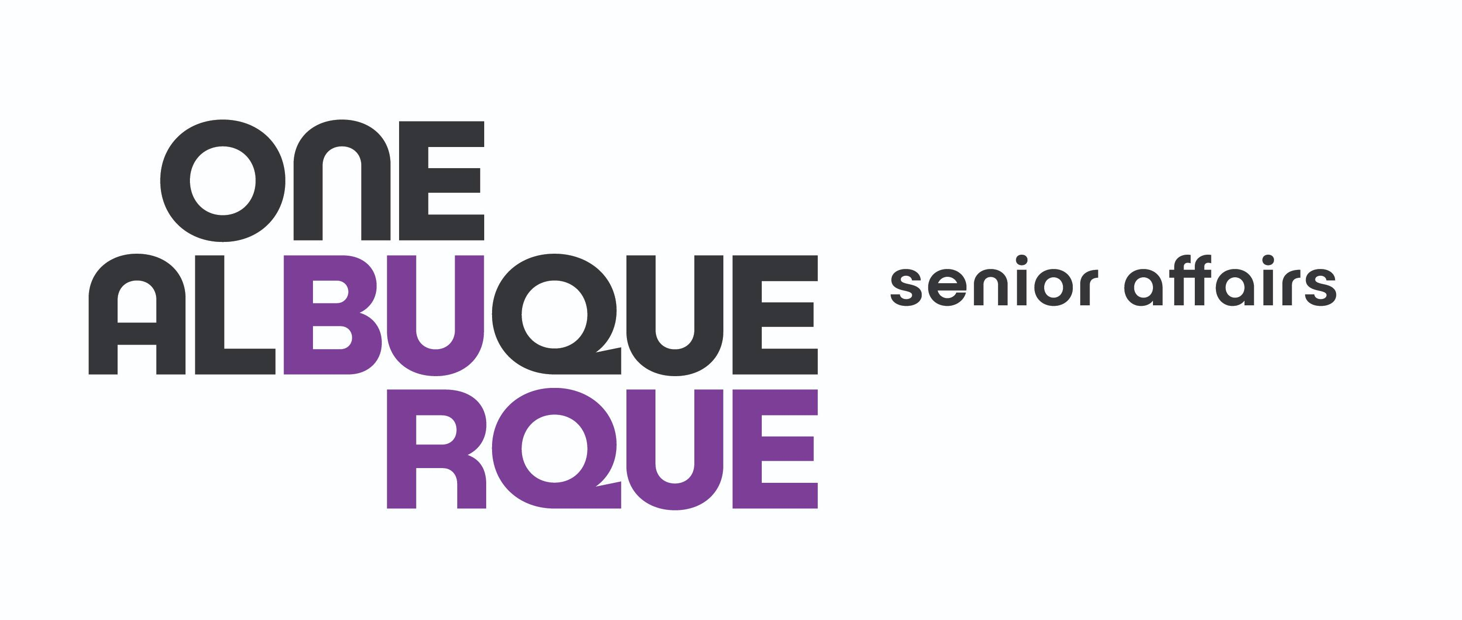 The One Albuquerque Senior Affairs Horizontal Logo