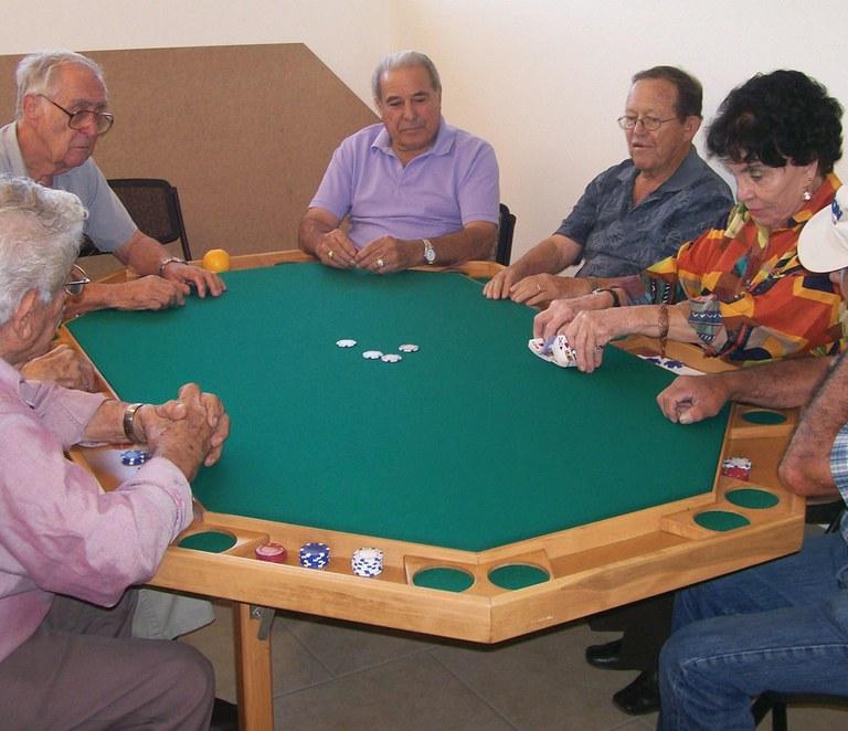 Group of Seniors playing Poker