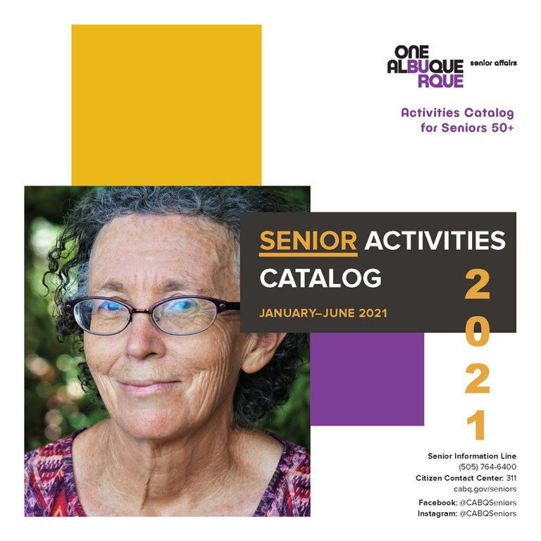 Cover of January to June 2021 Senior Affairs Activities Catalog