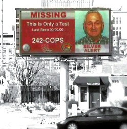 Billboard with Missing Person