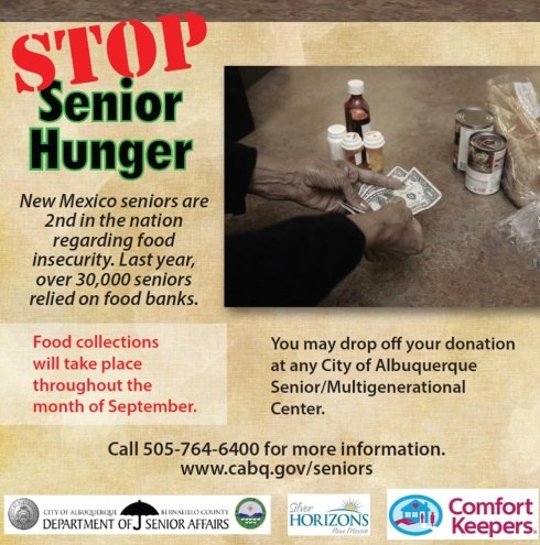 Stop Senior Hunger Month campaign image