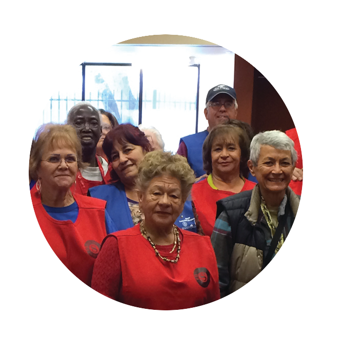 Group of senior volunteers