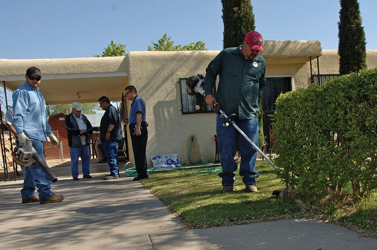 Men Doing Yard Work