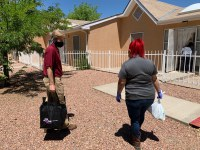 Mayor Keller Delivers Meals and Care Packages to Seniors