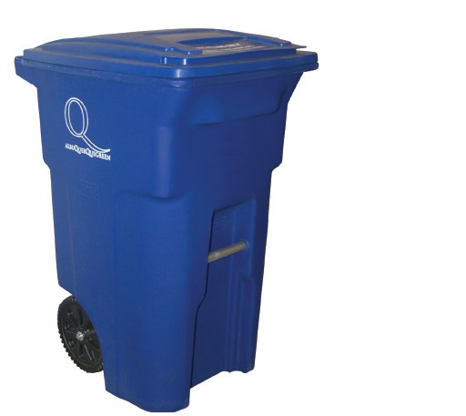 Blue Recycle Cart