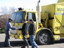 Yellow Recycling Truck