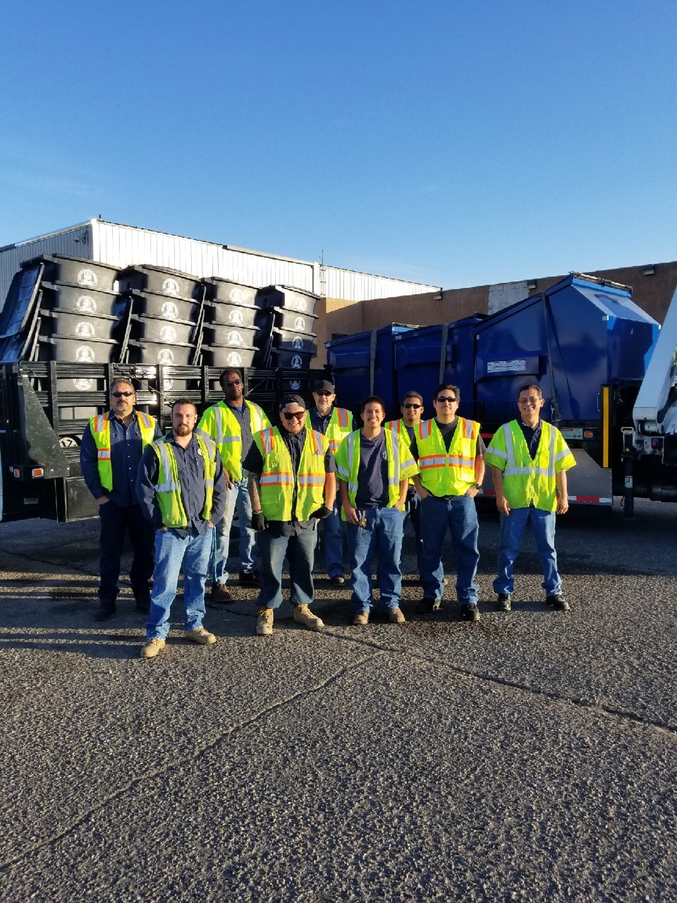 The Solid Waste Department's Automation Team.