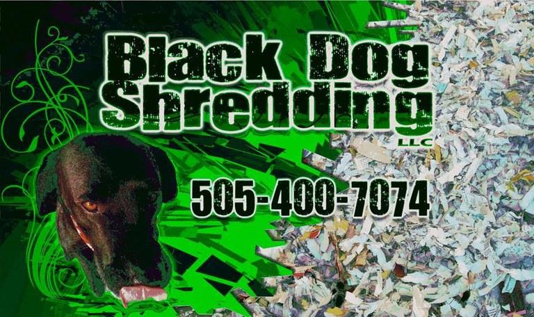 Black Dog Shredding Logo