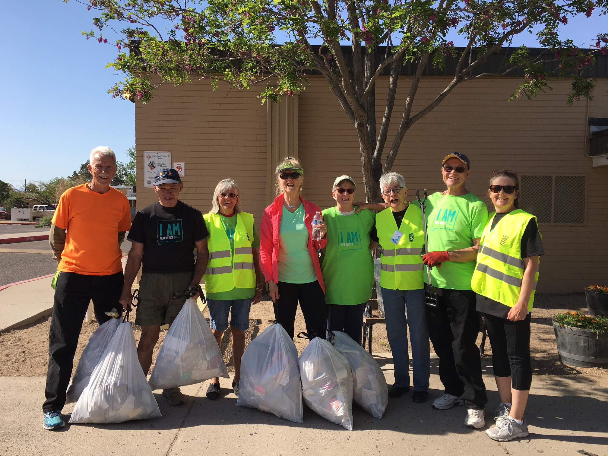 Participants from the Great American Cleanup 2018