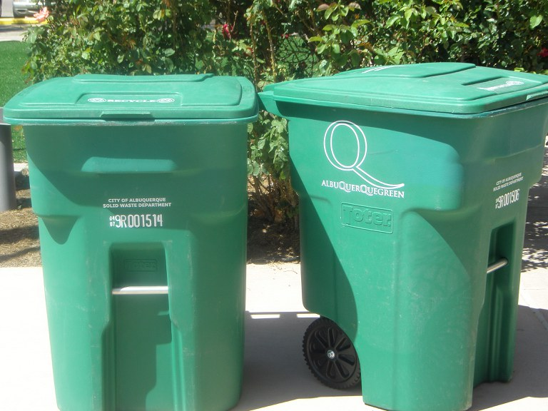 Green Recycle Carts