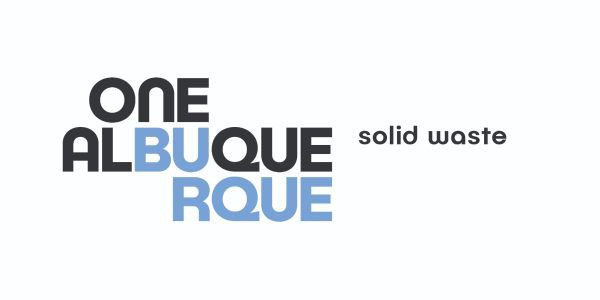 An image of the One Albuquerque Solid Waste Department logo.