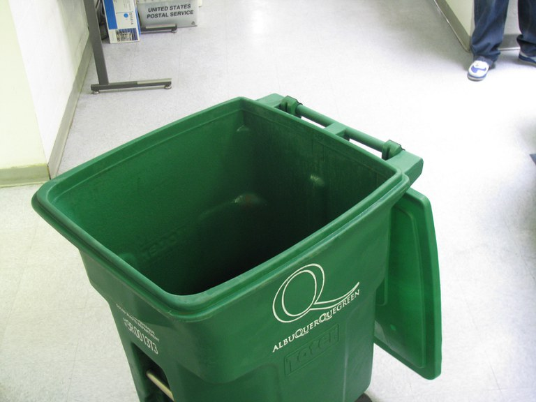 Green Recycle Cart