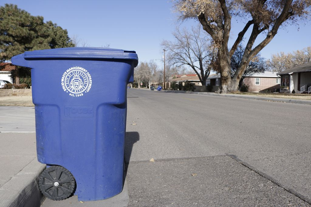 Two recycling bins