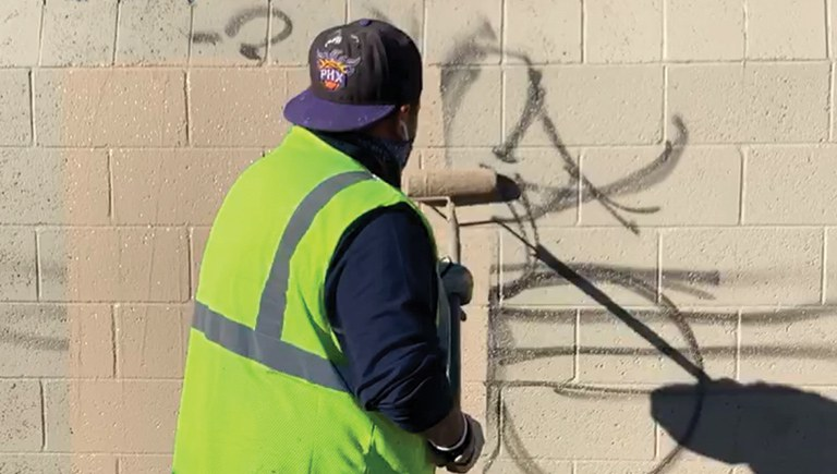 Solid Waste Graffiti Removal Section Highlight