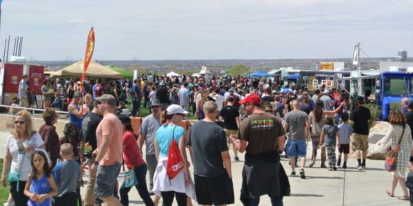 Large Crowd at Balloon Museum