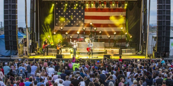 An image of a band playing at the Freedom Fourth Concert.
