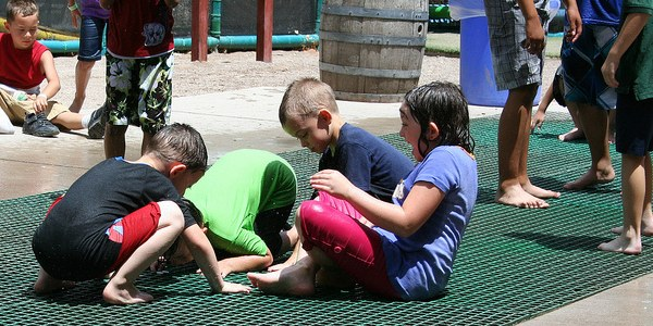 An image of children enjoying the new playground at the BioPark.