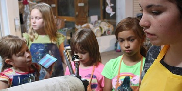 Participants in the Albuquerque Museum School for the Summer Activities page.