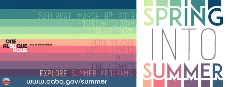 2019 Spring into Summer Banner