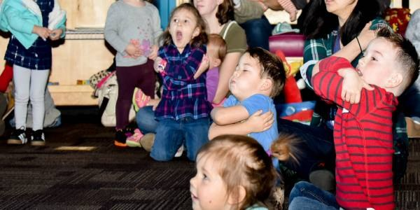 Children dancing at the Stories in the Sky Program.