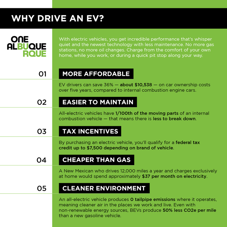More information on the benefits of driving an EV.