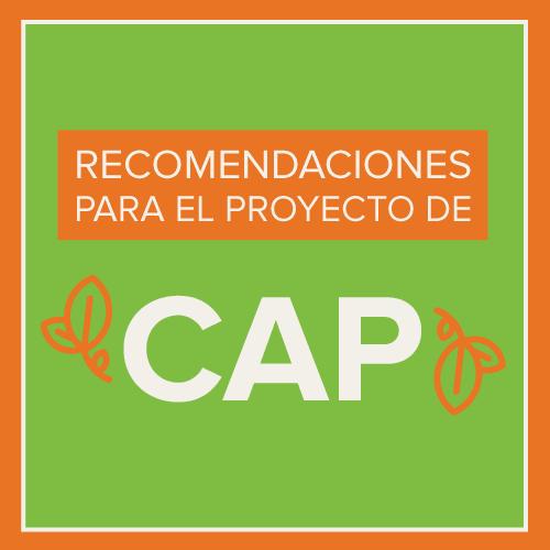 CAP Draft Recommendations Spanish