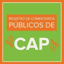 Register for the CAP public comment meeting