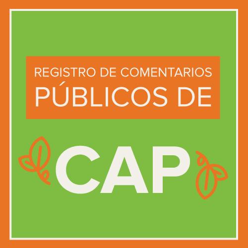 CAP Public Comment Registration Spanish