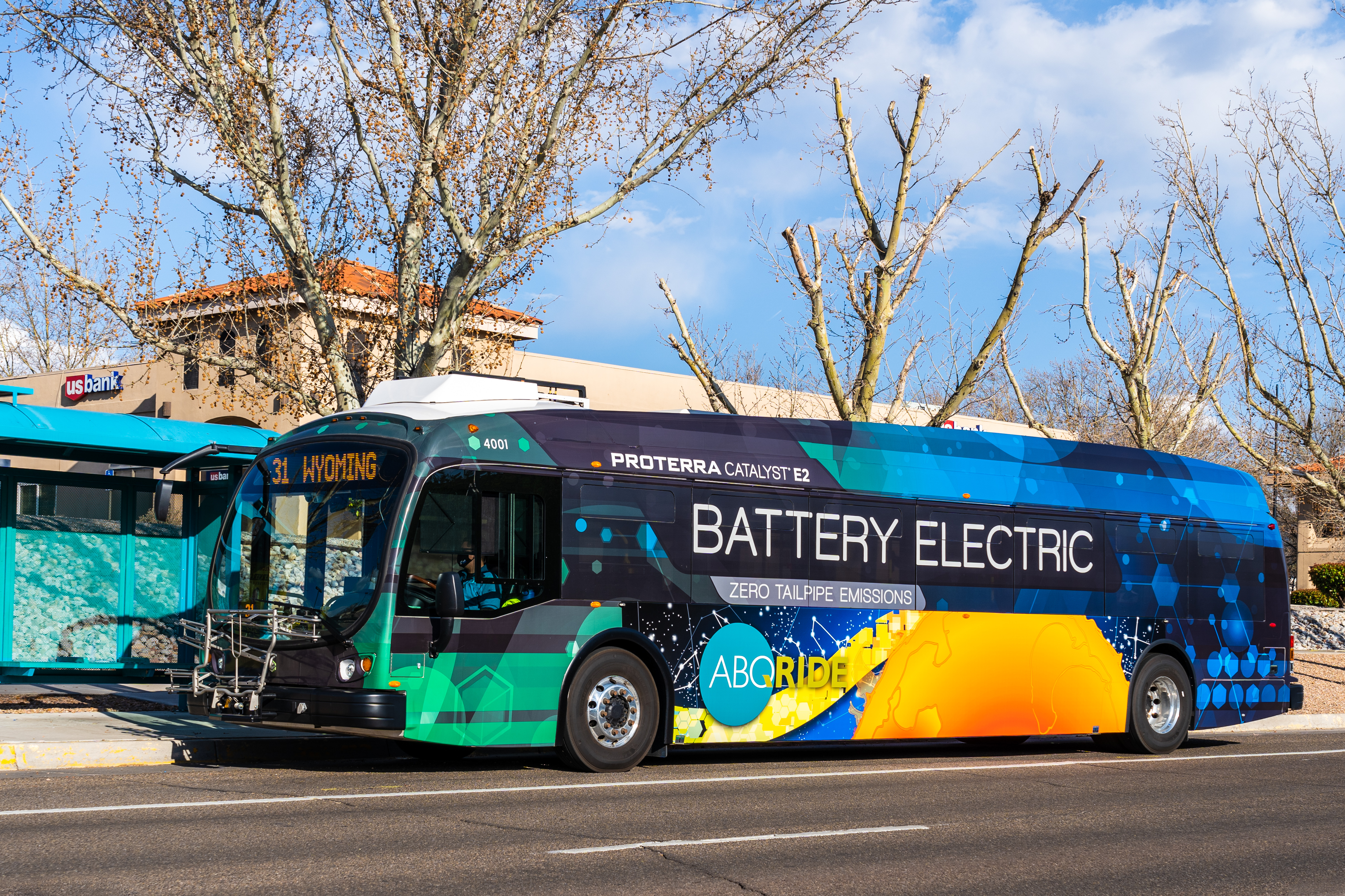 A photo of an electric bus.