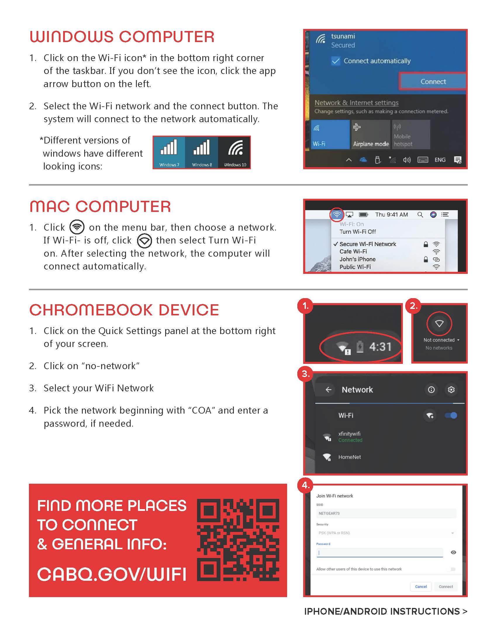 WiFi Connect Information Flyer Page 2
