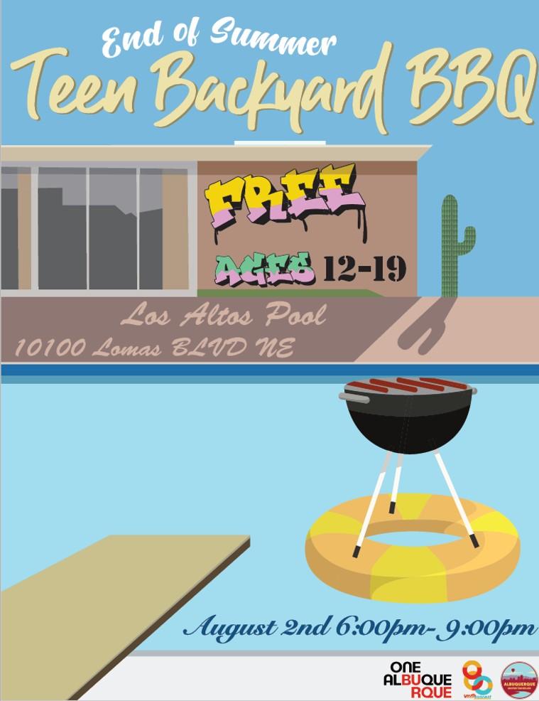 A JPEG of Teen Nights 2019 BBQ Flyer.