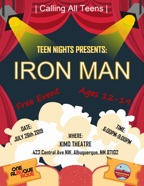 Teen Nights 2019 Movie Night Flyer
