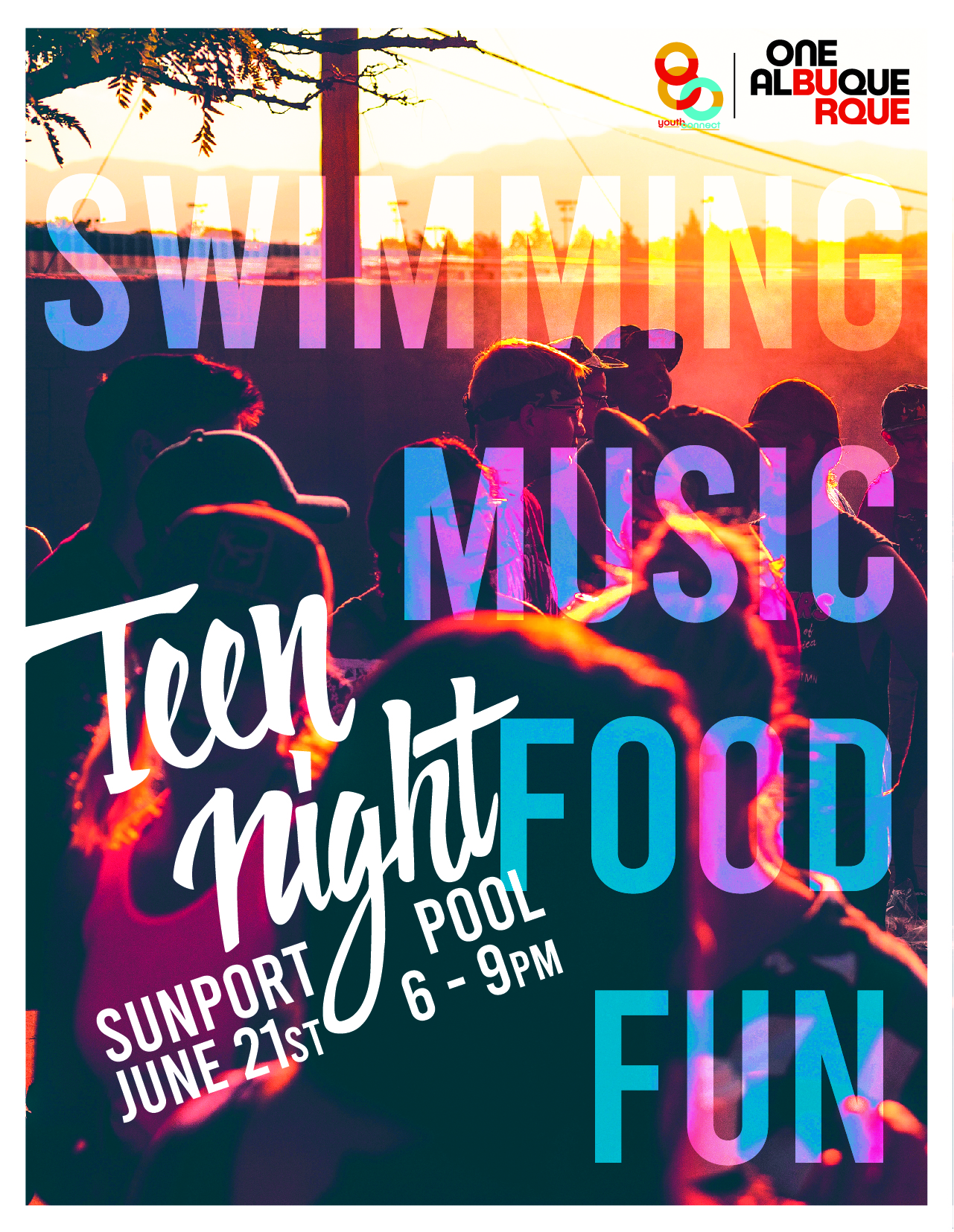 Teen Night 2019 Pool Party Flier