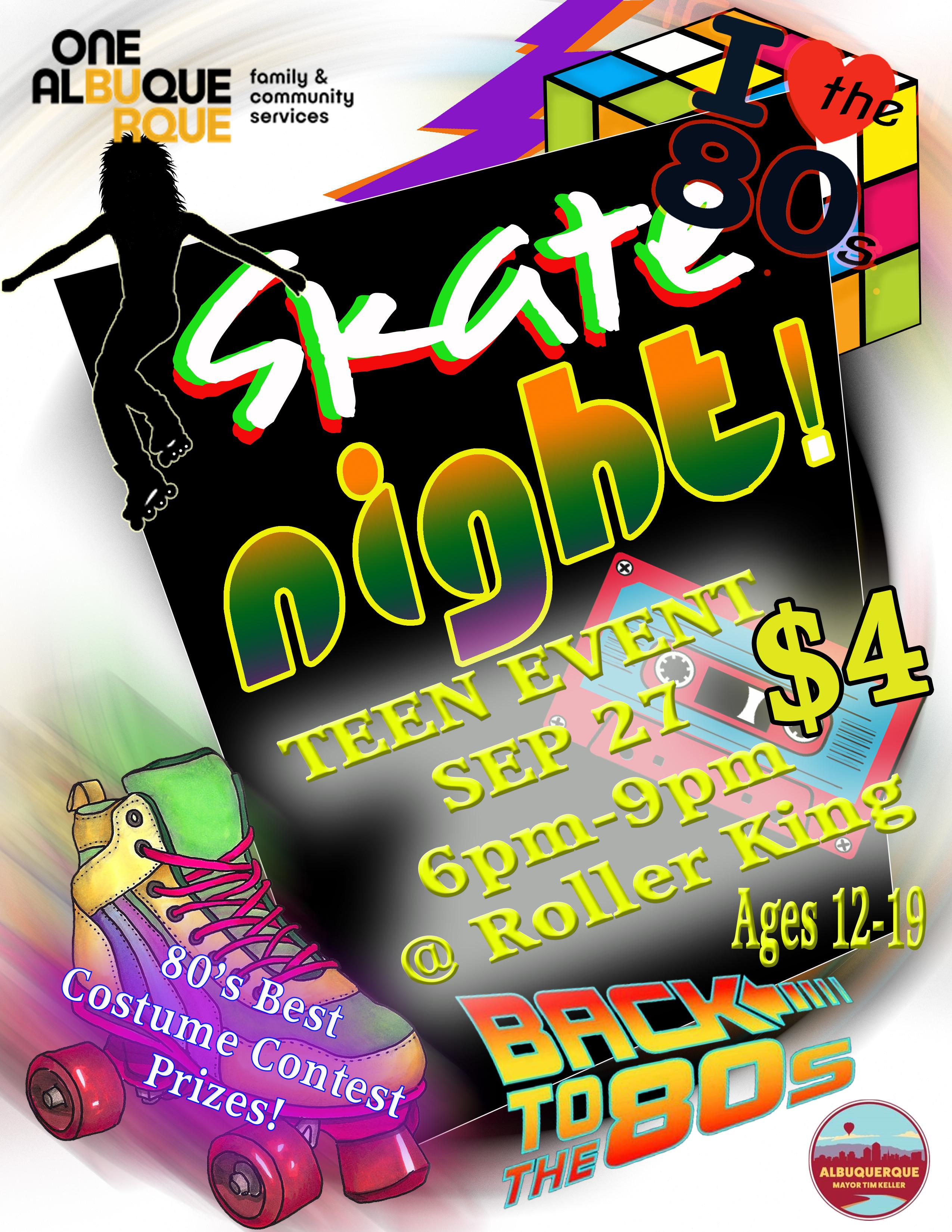 Teen Skate Night Flyer