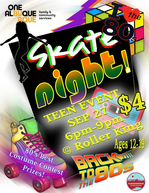 Teen Nights 2019 Skate Night Flyer