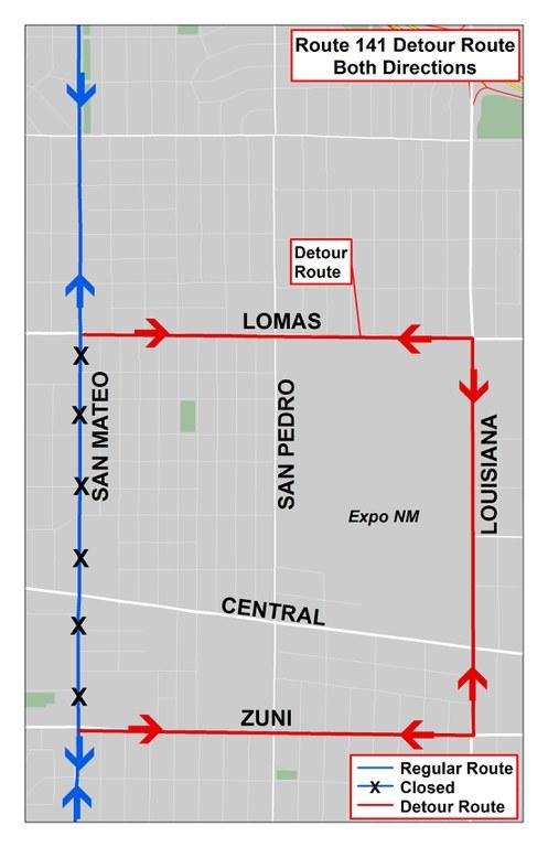 2018 State Fair Parade Detour Map - 141 to Louisiana Pride Parade no date.jpg