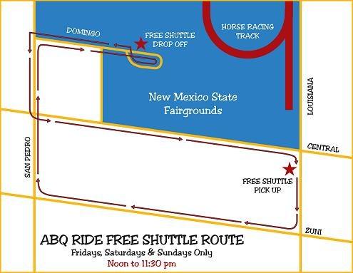 2012 St. Fair Shuttle Map