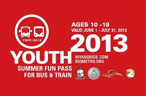 Youth Summer Fun Pass 2013