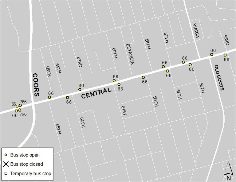ABQ Ride Closure - Jan. 20: Coors & Central