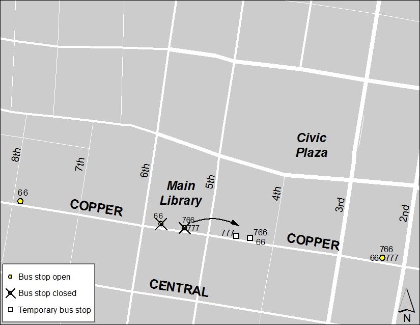 ABQ Ride Closure - Jan. 20: Eighth & Central