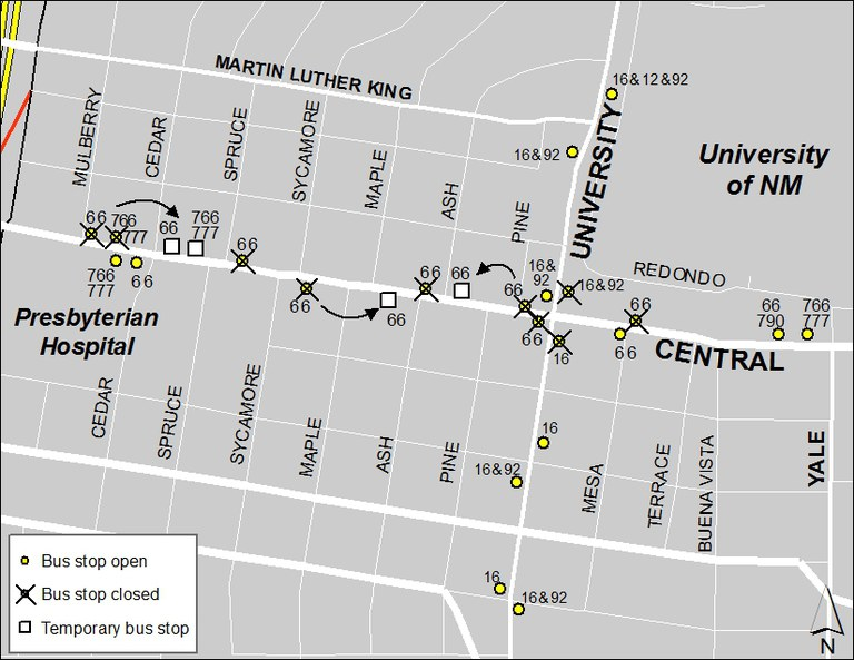 ABQ Ride Closure - Jan. 20: Mulberry & Central