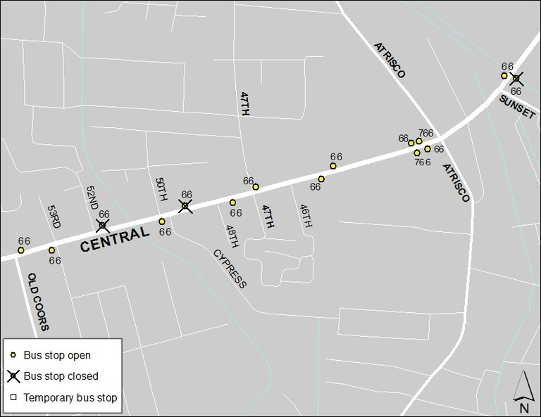 ABQ Ride Closure - Jan. 20: Old Coors & Central