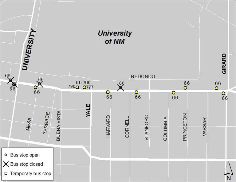ABQ Ride Closure - Jan. 20: University & Central