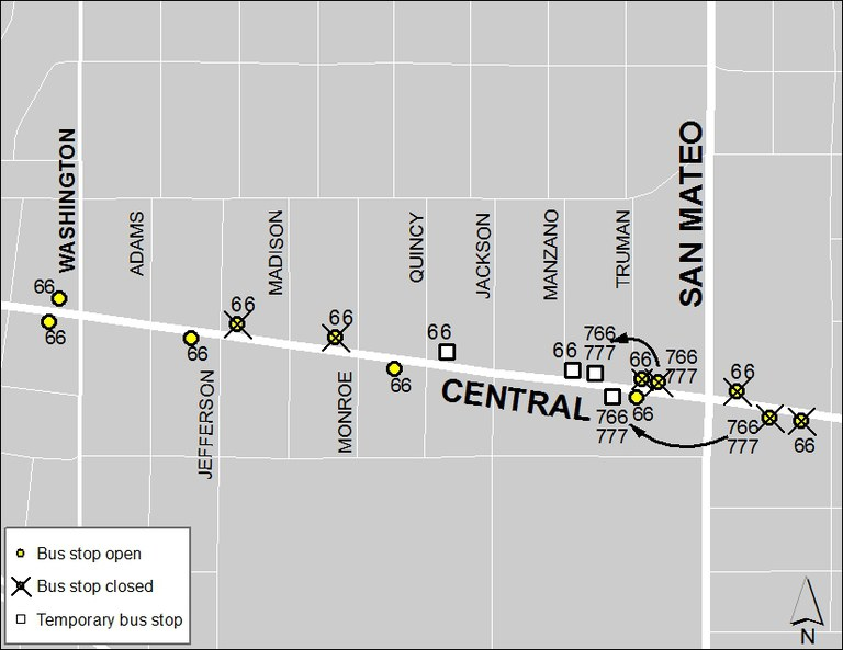ABQ Ride Closure - Jan. 20: Washington & Central