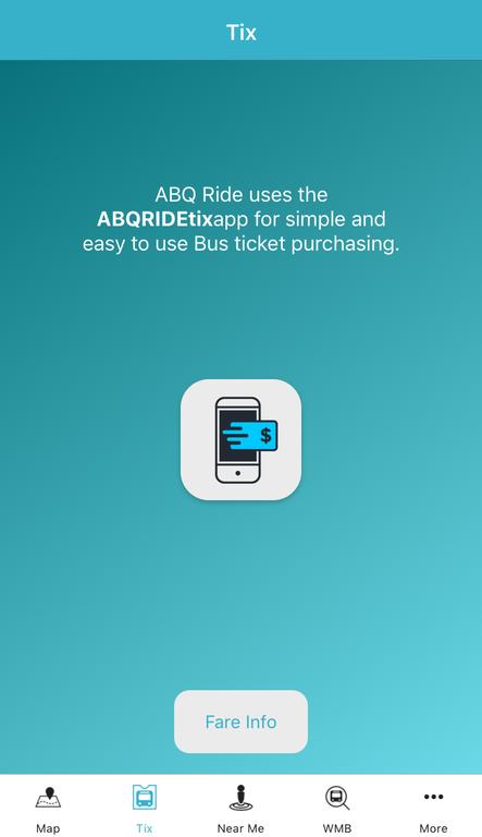 ABQRIDE+ Tix Screen