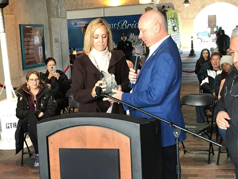 Connie Alexander-Actual-Amy Receives Award