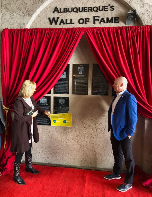 Connie Alexander-Amy Unveils Plaque