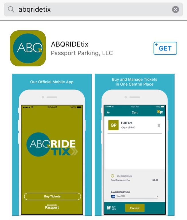 ABQRIDEtix in App Store